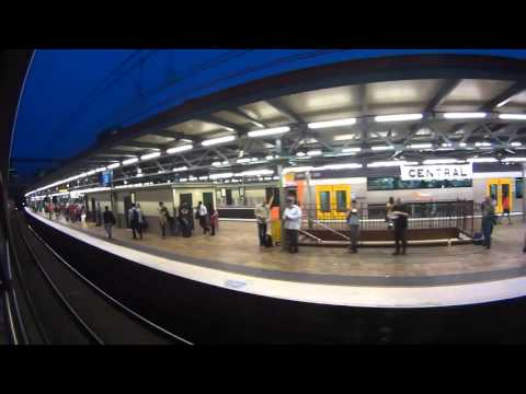 Watch Sydney Trains travel through subway (underground tunnel) Australia