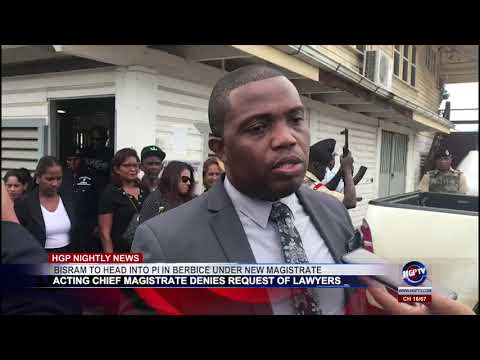 Bisram To Head Into PI  In Berbice Under New Magistrate Rr