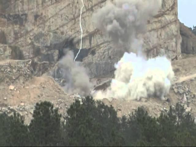 Crazy Horse Memorial Blast, July 29, 2014