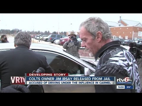 Colts owner Jim Irsay released after arrest on 2 charges