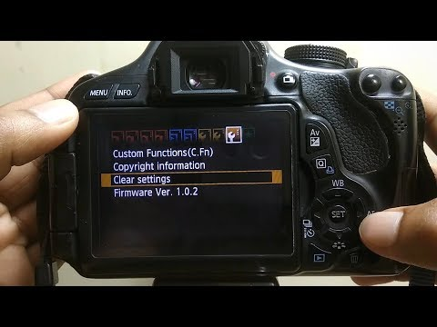 How To Reset Settings On Canon EOS 600D - Clear All Camera Settings Canon