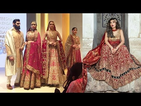 Heavy Zardosi Work Bridal Dress Designs 2018
