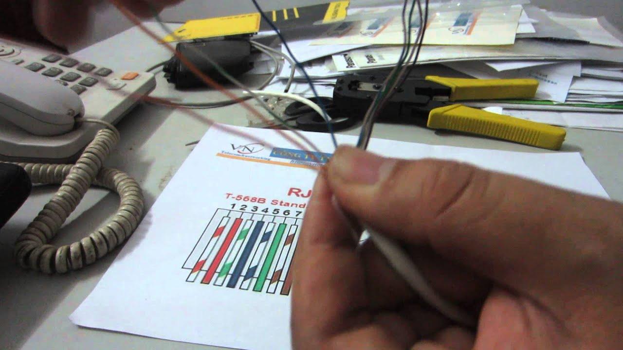 Cách bấm Cable (Cáp) mạng RJ45 theo chuẩn T568B và T568A