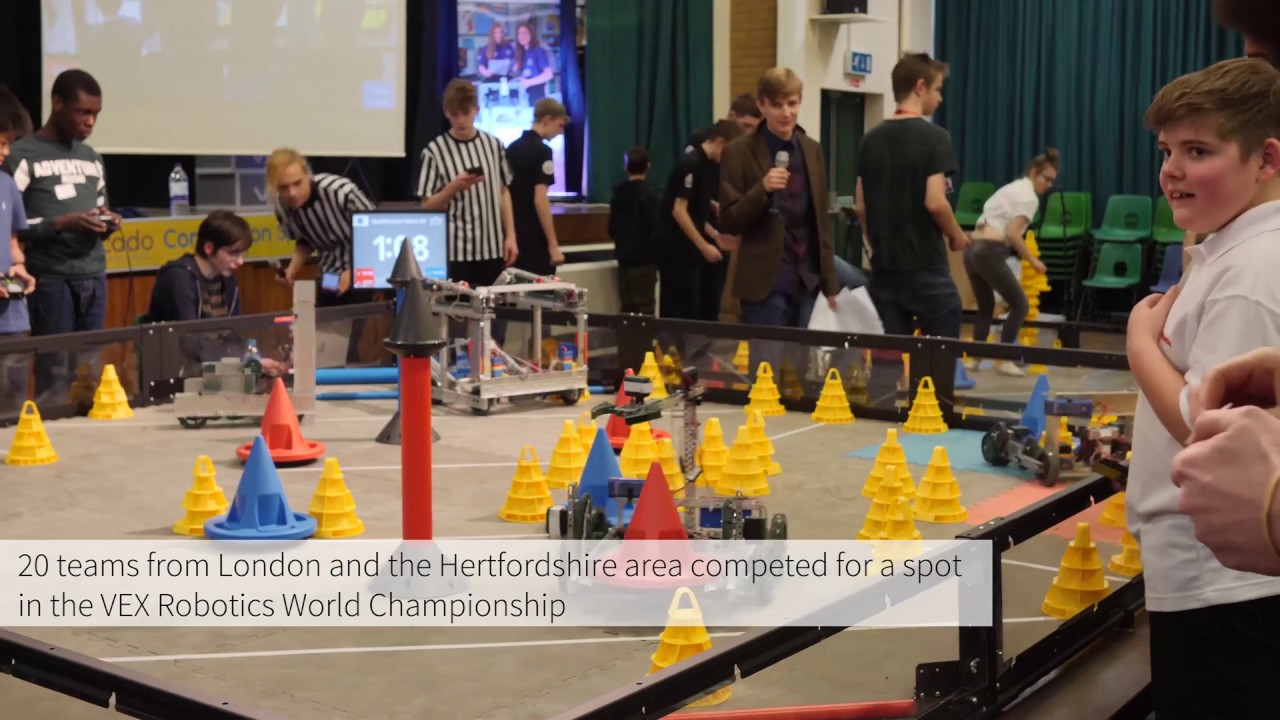 Ocado Technology Sponsors Welwynvex Robotics Competition Youtube