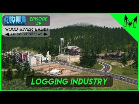 Wood River Basin #9 Remote Logging Industry | Cities Skylines Northwest High Desert Theme |