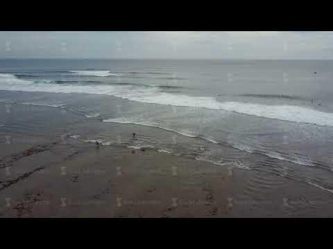 Aerial view on the beach. Bali. Ocean