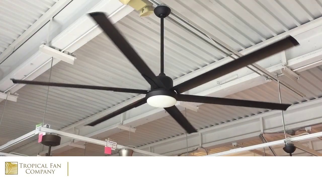 84 Inch Titan Ceiling Fan With Extruded Aluminum Blades By Troposair Youtube