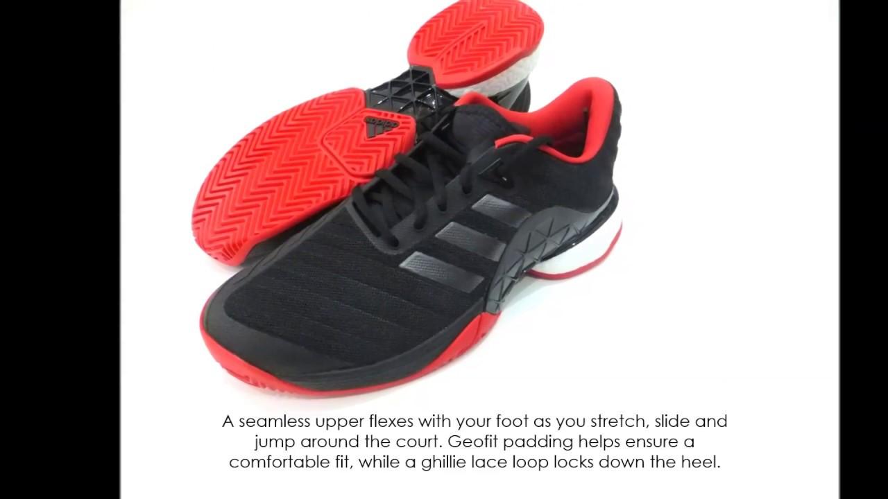 268ab12c27392 adidas Mens Barricade 2018 Boost Tennis Shoes - YouTube