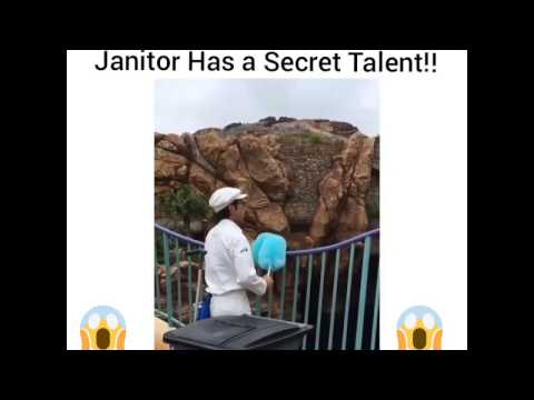 AMAZING! Janitor has a secret talent!