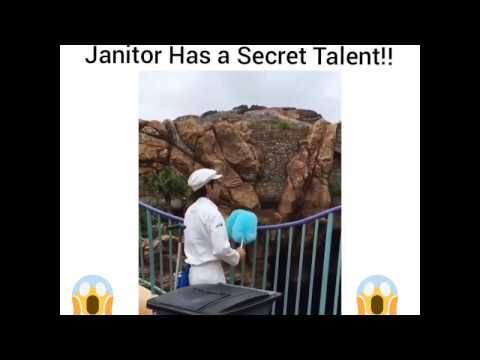 AMAZING! Janitor Has A Secret Talent!