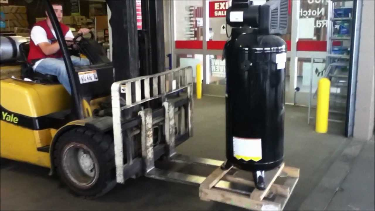 operation new air compressor pt2 buying the new kobalt compressor in 1080p hd