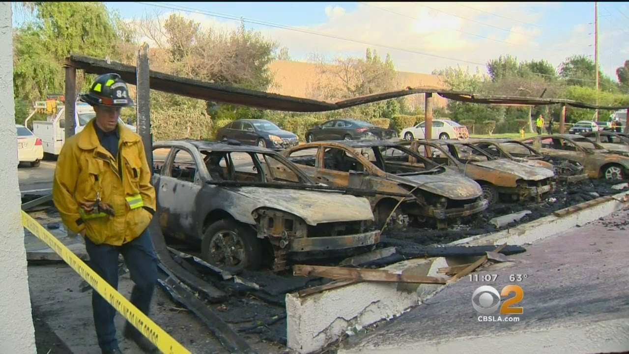 More Than A Dozen Cars Torched In Carport Fire