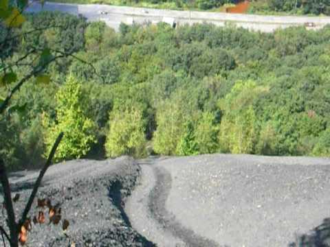 Mile Hill Hill climb in Ashland Pa