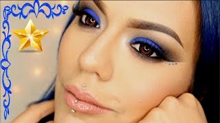 """Electric Blue Christmas"" Makeup Tutorial 