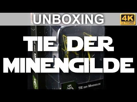 Star Wars X-Wing 2. Edition: TIE Der Minengilde - Unboxing - Mining Guild TIE (4K)