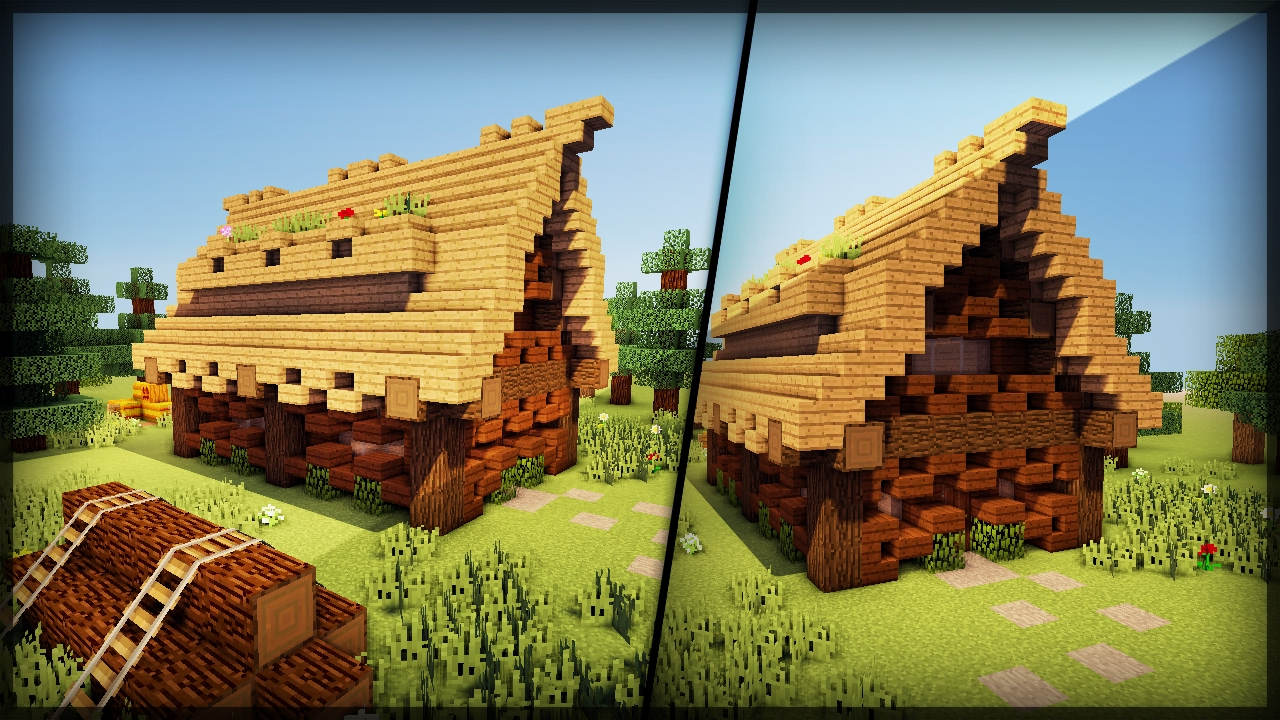 Como construir uma casa de campo medieval minecraft youtube - Construir casa de campo ...