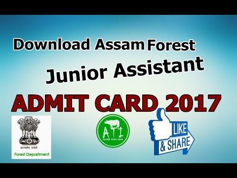 Assam Forest Admit Card Download For Junior Asistant