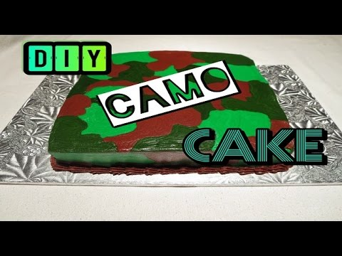 HOW TO MAKE IT: Easy Buttercream Army / Military Camouflage Cake Tutorial - Sharron