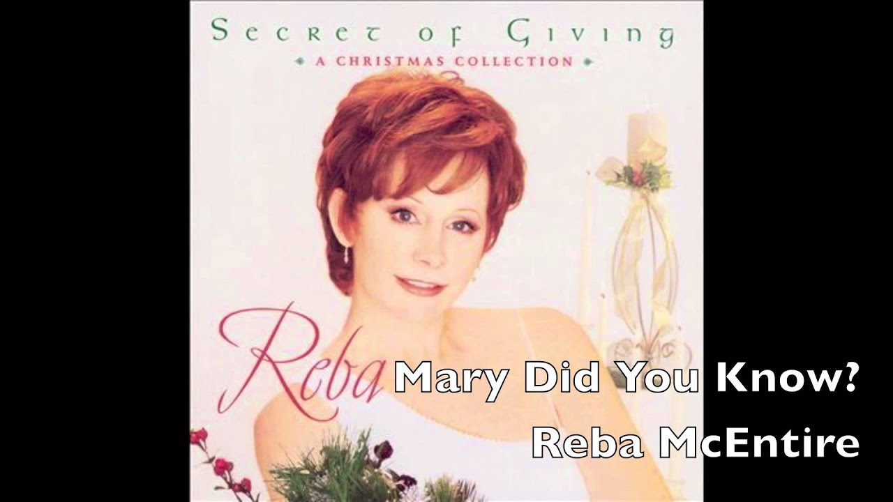 Reba Mcentire Christmas Guest.Mary Did You Know Reba Mcentire