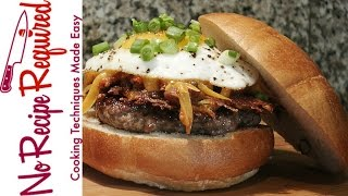 St Lous Rams Slinger Burger - NFL Burgers - NoRecipeRequired.com