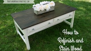 How to Refinish and Stain Wood