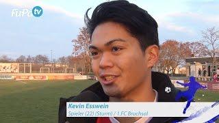 Kevin Esswein - 1.FC Bruchsal - zum Spiel vs. ASV Durlach im FuPa.tv-Interview am 11.12.2016