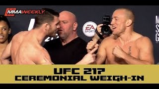 ufc 217 ceremonial weigh ins michael bisping vs georges st pierre