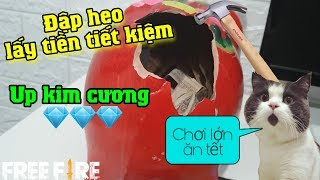 [Free Fire] Thanh Niên Chơi Lớn Đập Heo Lấy Tiền Tiết Kiệm Để Săn Hũ Kim Cương | Meow DGame