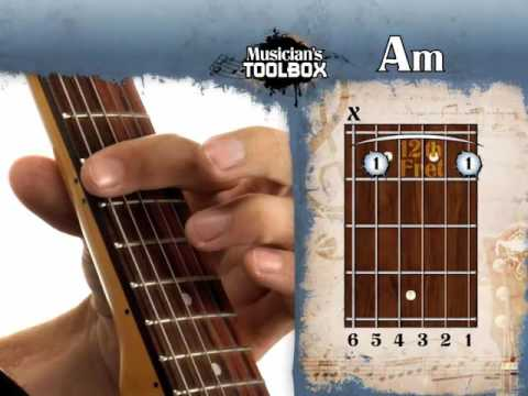 How To Play The Am Barre Chord On Guitar Am Bar Chord With The Root