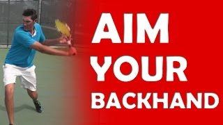 Aiming The Backhand | ACCURACY