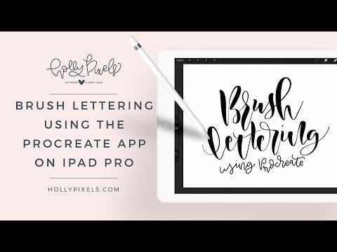 Brush Lettering Using Procreate App On Ipad Pro