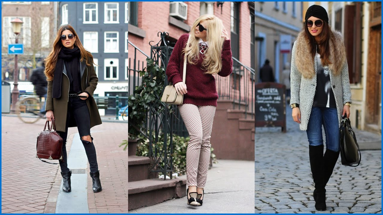 How To Wear Modern And Fashionable Winter Street Style Outfits Youtube