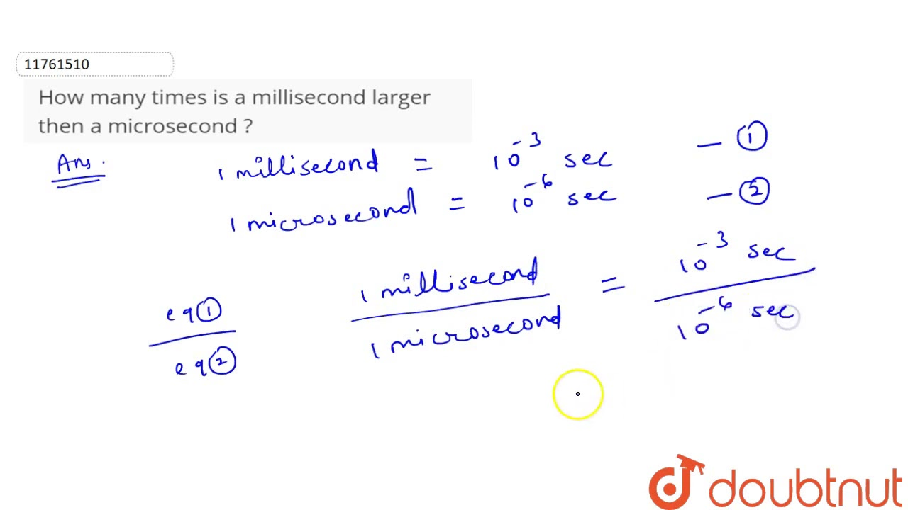 How many times is a millisecond larger then a microsecond ? - YouTube