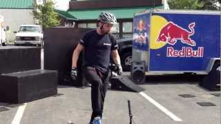 Chris Clark bicycle stunt show at Slippery Rock University