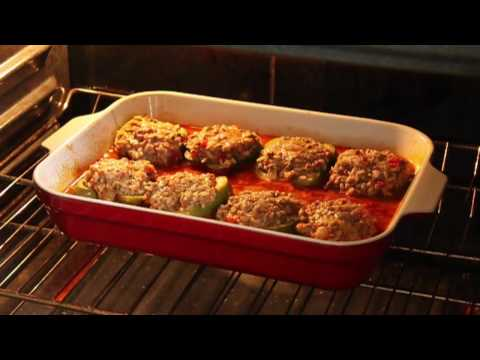 Food Wishes Recipes Beef and Rice Stuffed Peppers Recipe Stuffed Bell Peppers