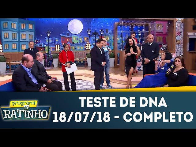 Teste de DNA - Completo | Programa do Ratinho (18/07/2018)