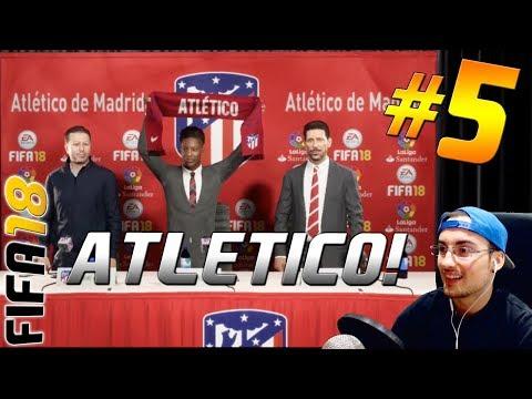 ALEX HUNTER FICHA POR EL ATLETICO DE MADRID !! | FIFA 18 EL CAMINO - THE JOURNEY | LIVE 2.0
