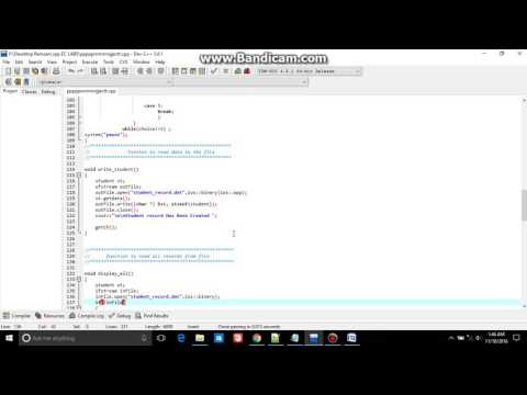 Student Record storing using class and file handling object oriented programing OOP