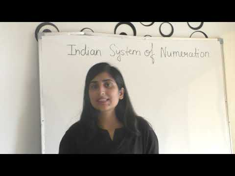 """""Indian system of Numeration"" class 4, 5, 6 math"