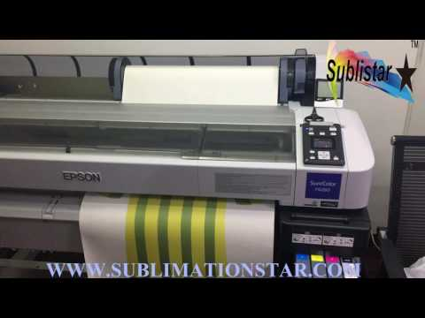 The Test Printing for China Water-baesd Sublimation ink on Epson Printer