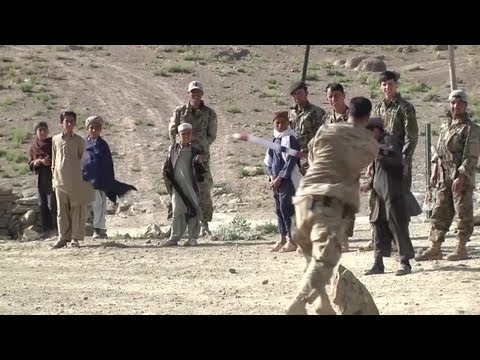 US Soldiers Play Cricket With Local Residents in Afghanistan