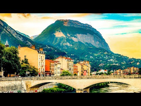 A Walk Around The Beautiful City Of Grenoble, France