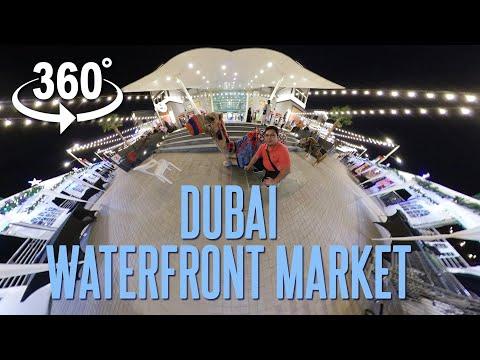 360 video | Dubai Waterfront Market | Dubai UAE