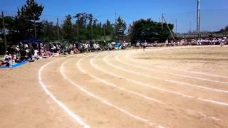 西内野小学校運動会100m走潤コロ1位