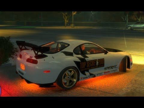 GTA4 TUNING CARS SUPRA NEON