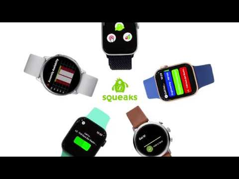 Smartwatch and Smartphone Integration with SQUEAKS