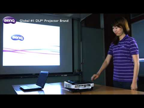 BenQ Business Projector - Quick Wireless Kit - How to Set Up Wireless Presentation with Notebook