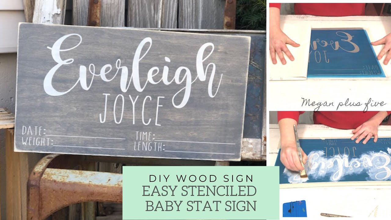 6 Must Haves For Stenciling Your Own Painted Wood Signs Megan Plus Five