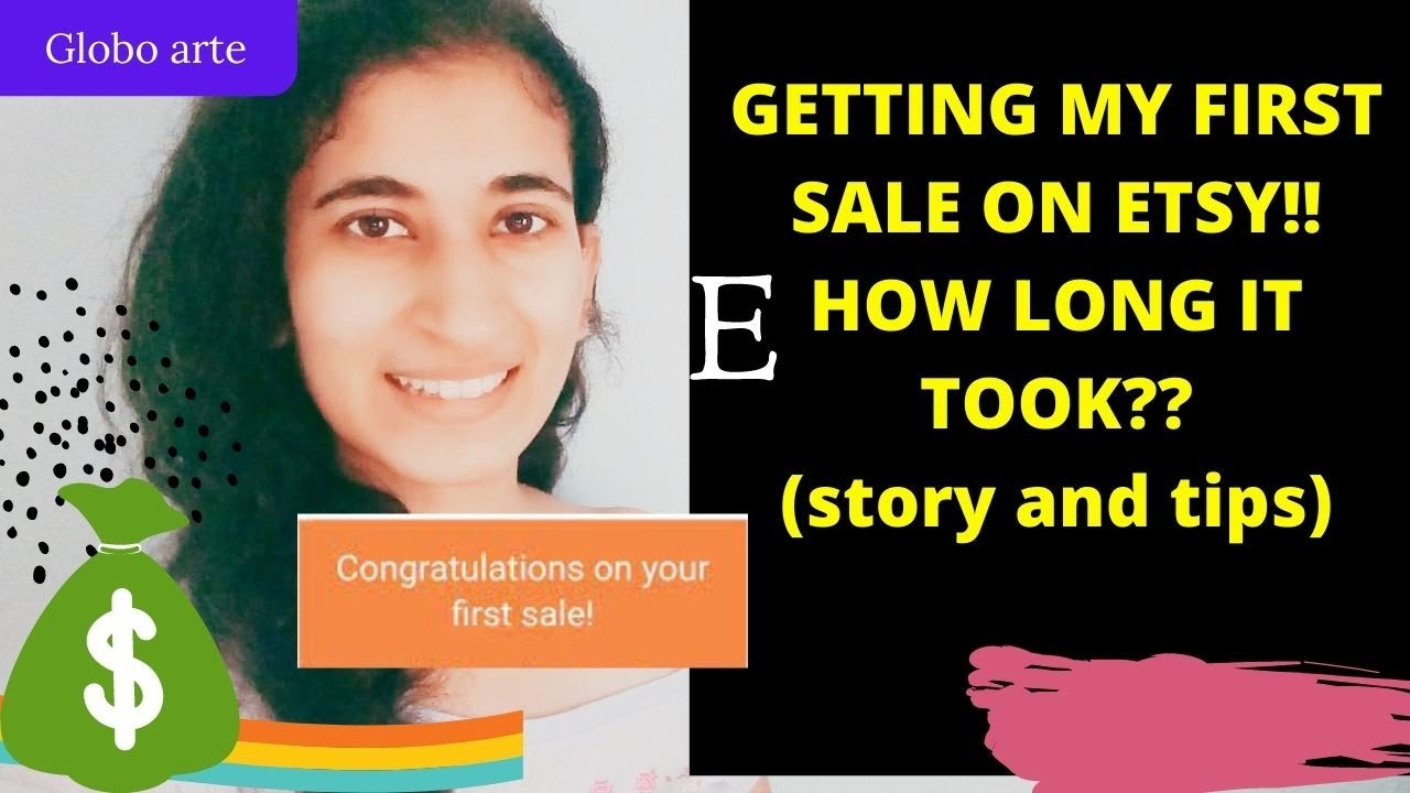 GETTING MY FIRST SALE ON ETSY!! (how long it took?? sharing my story)