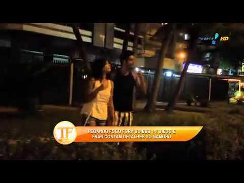 'Quase', Diz Ex BBB Fran Sobre Ensaio Nu -  TV Fama 03/04/2014